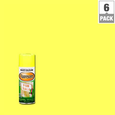 glow in the spray paint yellow rust oleum specialty 11 oz yellow fluorescent spray paint