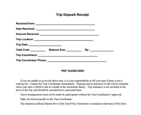 deposit receipt template az photos