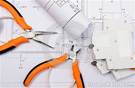 electrical diagrams electric fuse and work tools on
