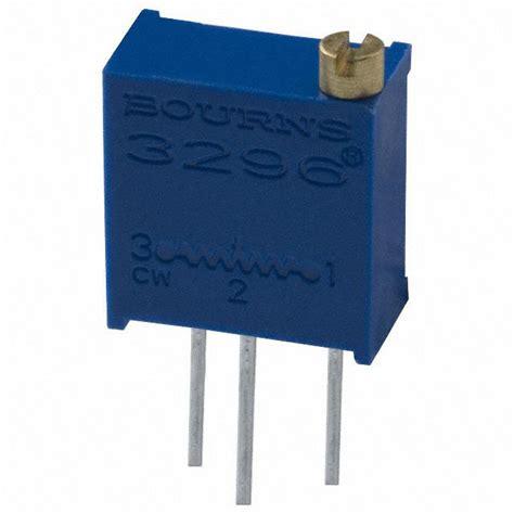 variable resistor bourns 3296y 1 502 bourns inc potentiometers variable resistors digikey