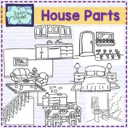 Colored Bathroom parts of the house clip art by teacher s clipart tpt