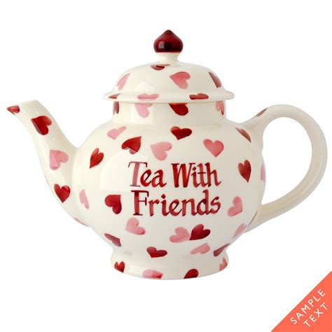 pink wallpaper emma bridgewater teapot personalised pink hearts four cup teapot at emma bridgewater