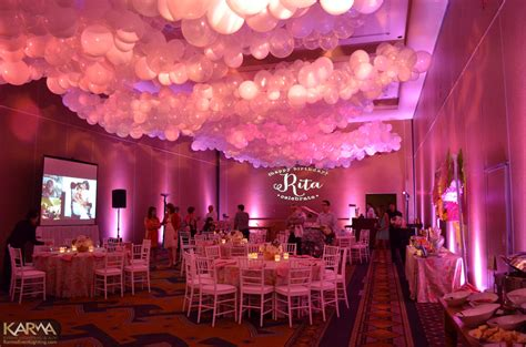 Pink Themed Events | karma event lighting for weddings and special events
