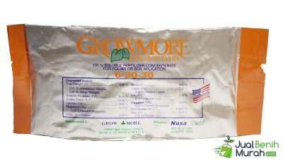 Pupuk Npk Growmore Bunga Buah 6 30 30 pupuk npk grow more buah 6 30 30 100 gram jualbenihmurah