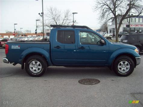 lifted silver nissan frontier 2005 electric blue metallic nissan frontier nismo crew cab