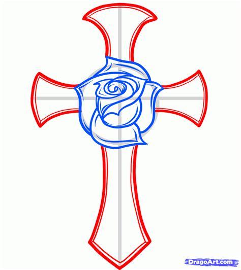 how to draw a tattoo rose step by step easy to draw cross designs how to draw a and cross