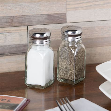salt and pepper shakers tablecraft 154sp 2 oz square salt and pepper shaker 12 pack