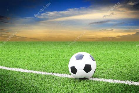 soccer in sun and soccer ball on soccer field with sun set stock photo 169 somkku 42757615