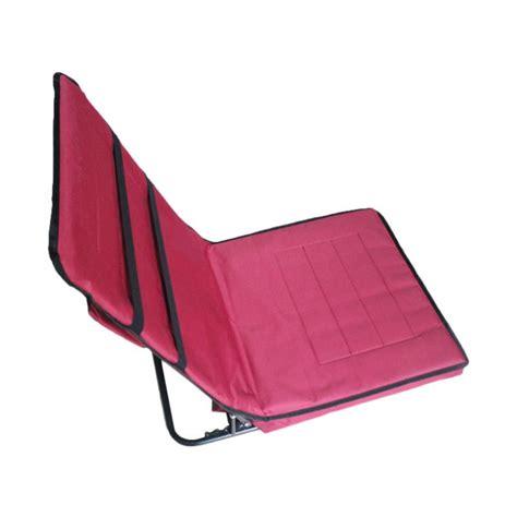 Kursi Lipat Merah tempat jual nusuki sajadah sandar lipat maroon lengkap
