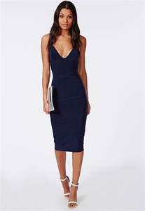slinky midi dress navy dresses midi dresses missguided
