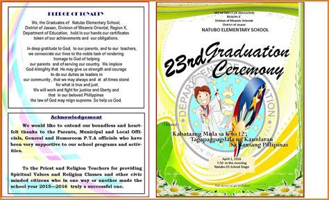 graduation ceremony program template graduation program template notary letter