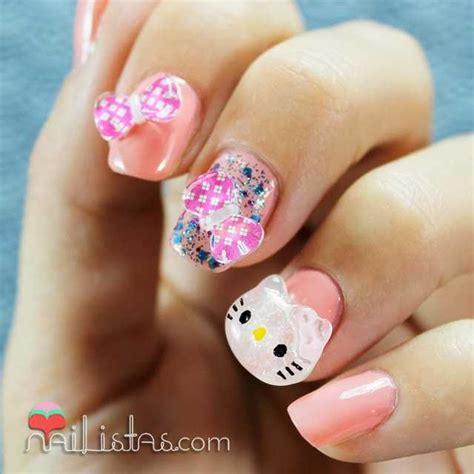 imagenes de uñas decoradas con hello kitty u 241 as decoradas con hello kitty en 3d nailistas u 241 as