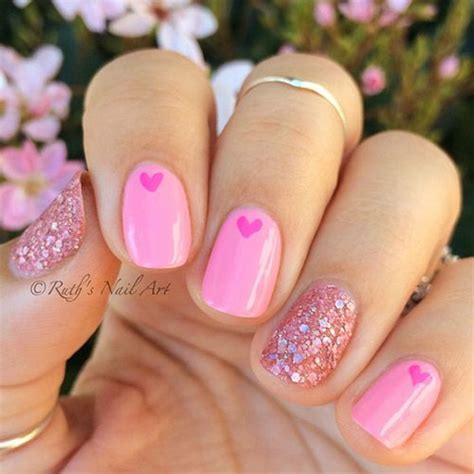 s day nail ideas 15 pink s day nail designs ideas 2017