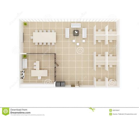 plan view office floor plan top view stock illustration image