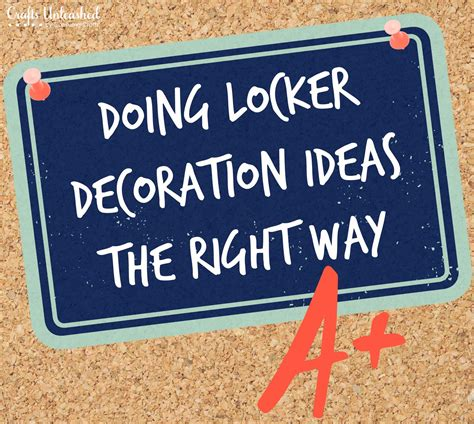 Personalized Signs For Home Decorating by Doing Locker Decoration Ideas The Right Way