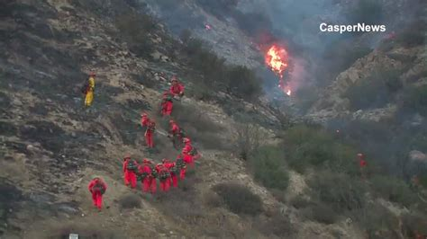 cajon pass fire cleghorn fire in cajon pass 100 contained ktla