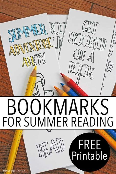 printable summer bookmarks free printable bookmarks for summer reading colors the