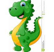 Desenhos Animados Bonitos Do Dinossauro Ilustra&231&227o Stock
