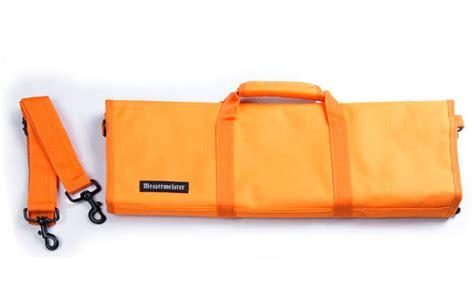 messermeister 12 pocket knife roll black messermeister padded knife roll 12 pocket orange