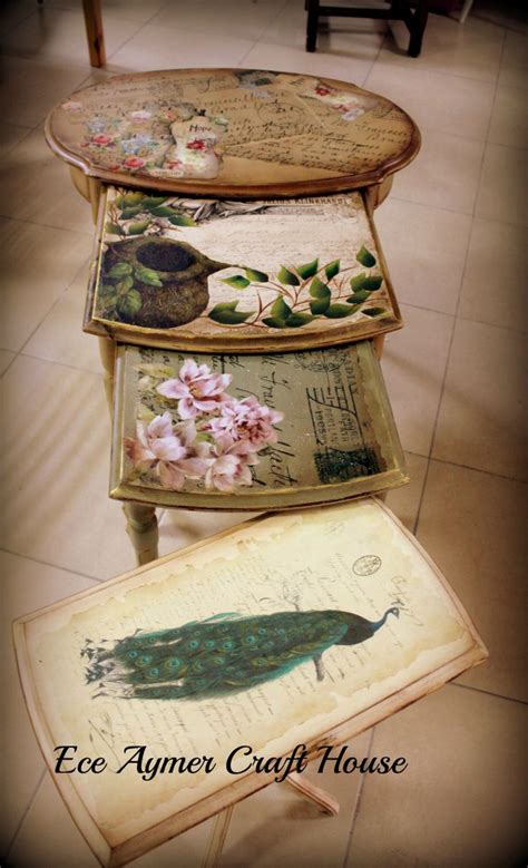 decoupage wood table 17 best ideas about decoupage table on
