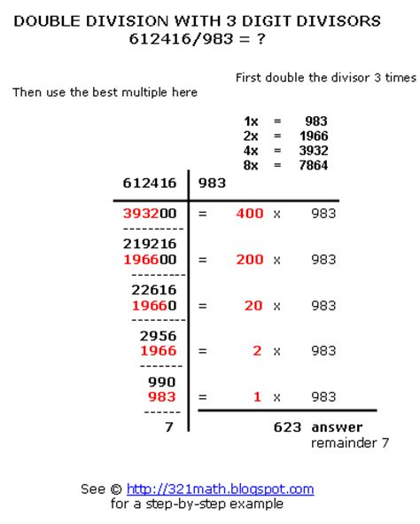 diagram exles division how to do division step by step division