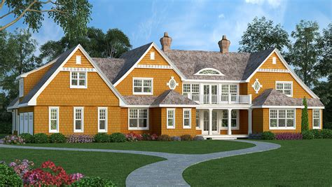 high end house plans high end shingle style house plan 3898ja architectural