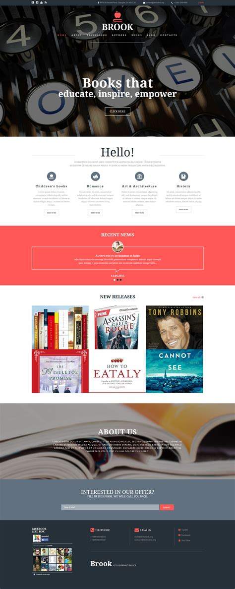 free joomla templates for books publisher joomla template