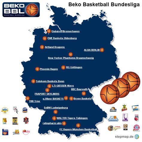 beko bbl tabelle beko basketball bundesliga mjorden landkarte f 252 r