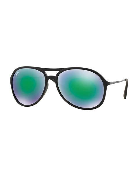 Rayban Elastis Lensa ban plastic aviator sunglasses with mirror lenses lyst