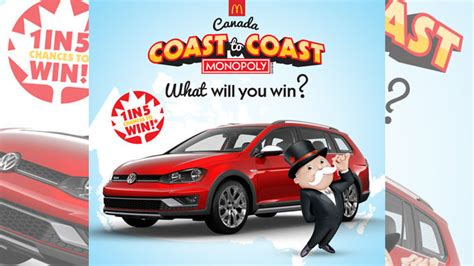 Mcdonalds Monopoly Instant Win Prizes Canada - monopoly returns to mcdonald s canada on october 11 2016 chew boom