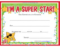 printable star awards free star award certificate church ideas pinterest