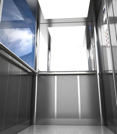 cabina ascensore ascensore per esterno con parete panoramica in vetro sia