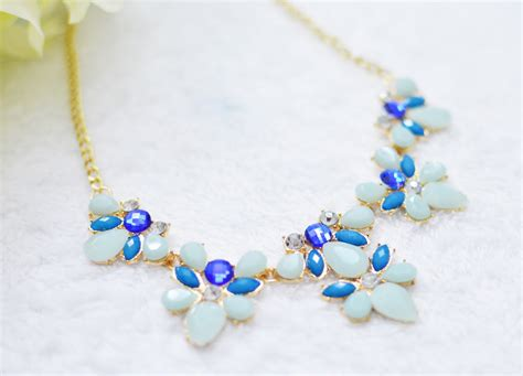 light blue statement necklace a beauty moment ebay haul statement necklaces