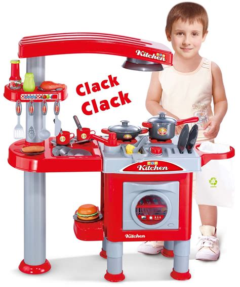Interactive Electronic Kitchen Play Set Electronic Lights And Sounds Pretend Play Deluxe Kitchen