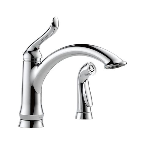 delta linden kitchen faucet 4453 dst linden single handle kitchen faucet with spray