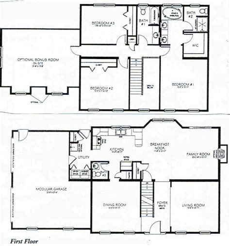 House Plans 2 Story Two Story House Plans