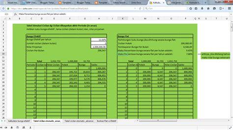 template akuntansi pajak  komputer kalkulator kredit