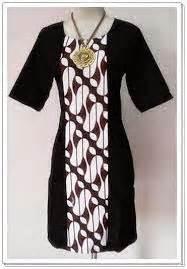 design batik kombinasi 50 model baju batik wanita kombinasi