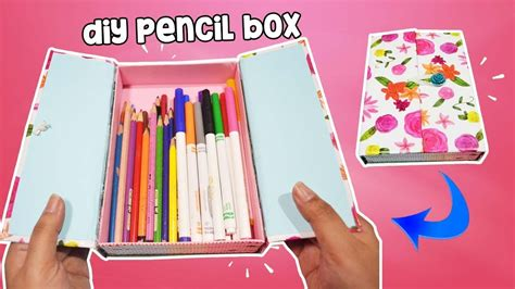 how to make pencil box for back to school diy pencil
