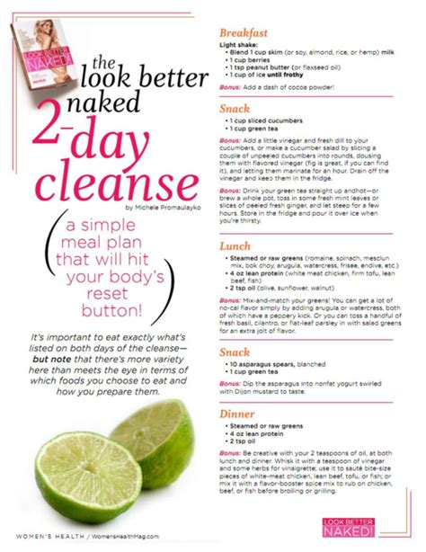 Fit Detox Diet by Time To Get Fit 2 Day Cleanse