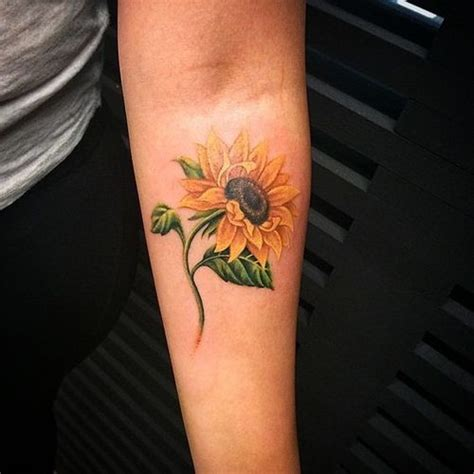 realistic sunflower tattoo designs small sunflower design ideas