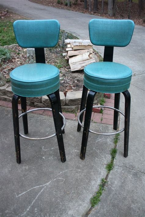 Teal Blue Bar Stools by Pin By Gremlina Of The Schoolhouse On Mid Century