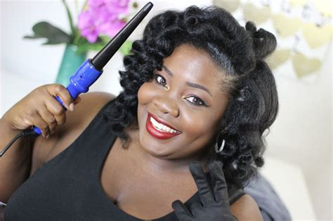 mahoganycurls used sheamoisture blow out cream and these are the irresistibleme curling wand beautiful naturalhair curls