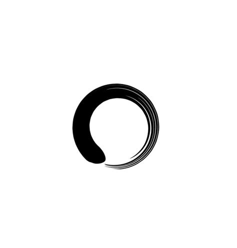 2 zen enso circle temporary tattoo various sizes available