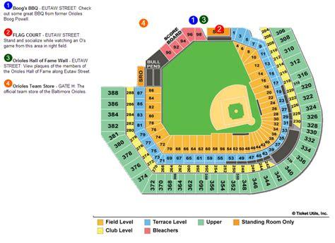 baltimore orioles memorial stadium seats mlb ballpark seating charts ballparks of baseball