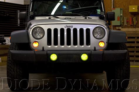 light yellow jeep fs wrangler rgb multicolor fog light leds awesome effect