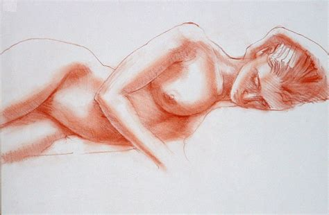 The Draftsman Drawing A Reclining by Reclining Figure Drawing