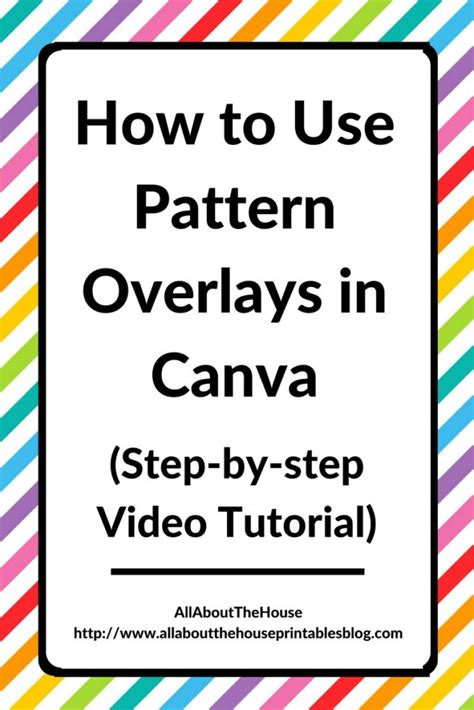 canva meaning how to use pattern overlays in canva