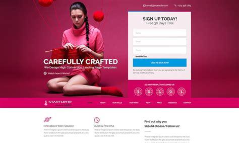 free startuprr landing page template psd designazure com