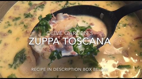 youtube membuat zuppa soup olive garden s zuppa toscana soup youtube